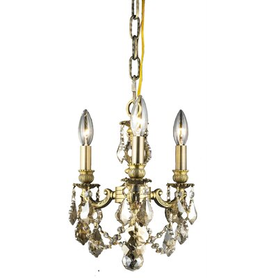 Ranae 3-Light Metal Candle-Style Chandelier