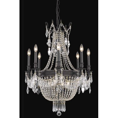 Ursula 12-Light Chain Crystal Chandelier Crystal Grade: Elegant Cut