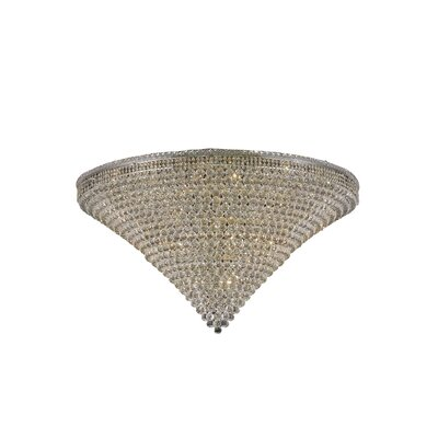 Fulham 48-Light Flush Mount Finish: Chrome, Crystal Grade: Spectra Swarovski