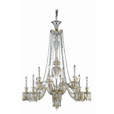 Leonardo 12-Light Crystal Chandelier