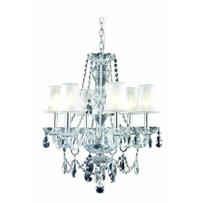 Rochelle 6-Light Candle-Style Chandelier Finish: Gold