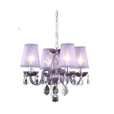Kimber 4-Light Candle-Style Chandelier Finish: Red