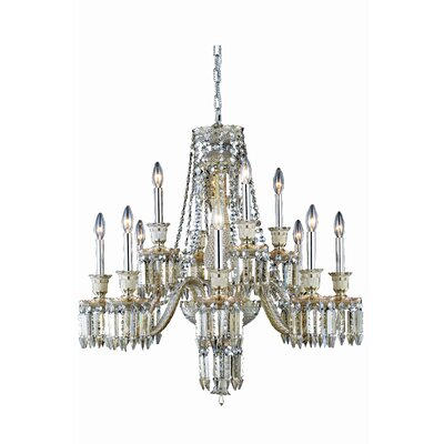 Leonardo 12-Light Glass Crystal Chandelier