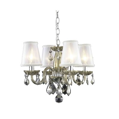 Rococo 4-Light Shaded Chandelier