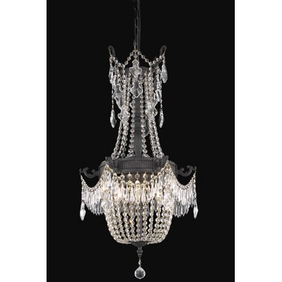 Ursula 6-Light Chain Crystal Chandelier Crystal Grade: Elegant Cut