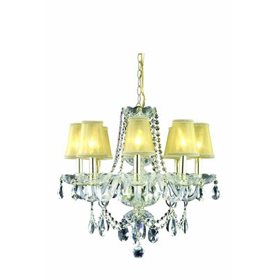 Rochelle 8-Light Candle-Style Chandelier Finish: Chrome