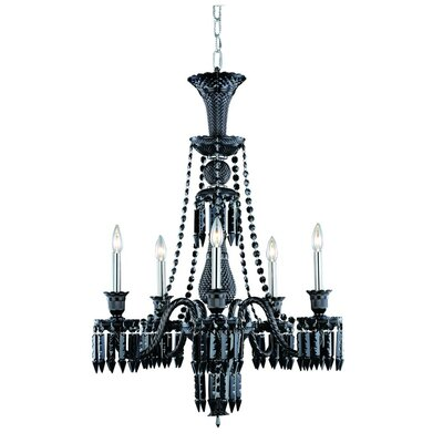 Leonardo Traditional 5-Light Crystal Chandelier Finish: Golden Teak, Crystal Color: Smokey Golden Teak