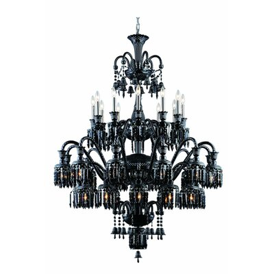 Leonardo Traditional 36-Light Crystal Chandelier