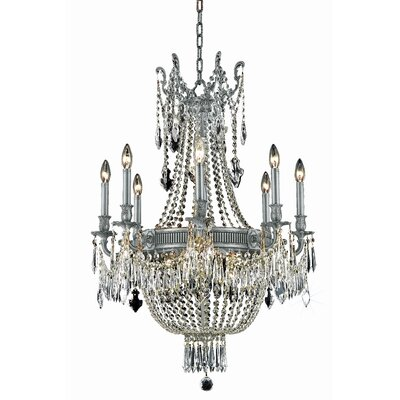 Ursula Traditional 12-Light Crystal Chandelier Crystal Grade: Spectra Swarovski, Finish: Pewter