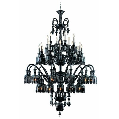 Leonardo 42-Light Metal Crystal Chandelier