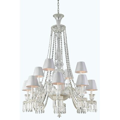 Leonardo 12-Light Metal Crystal Chandelier