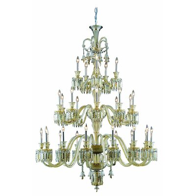 Leonardo 42-Light Chrome Crystal Chandelier