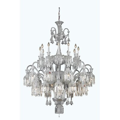Leonardo 36-Light Chrome Crystal Chandelier