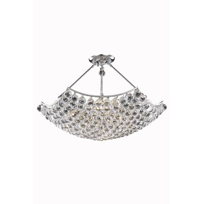 Troas Contemporary 8-Light Crystal Chandelier Crystal Grade: Spectra Swarovski, Finish: Gold