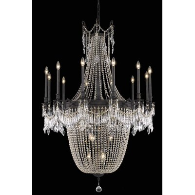 Ursula 22-Light Chain Crystal Chandelier Crystal Grade: Spectra Swarovski
