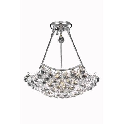 Corona 8-Light Crystal Chandelier Crystal Grade: Elegant Cut, Finish: Gold