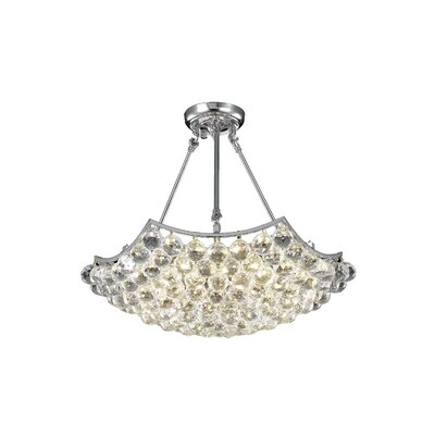 Corona 10-Light Crystal Chandelier Crystal Grade: Elegant Cut, Finish: Gold
