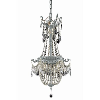 Ursula Traditional 6-Light Crystal Chandelier Color: Dark Bronze, Crystal Grade: Spectra Swarovski