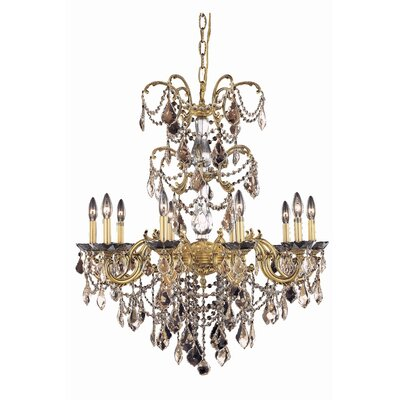 Cherie 10-Light Crystal Chandelier Crystal Grade: Royal Cut