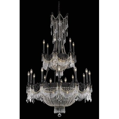 Ursula 27-Light Chain Crystal Chandelier Crystal Grade: Royal Cut