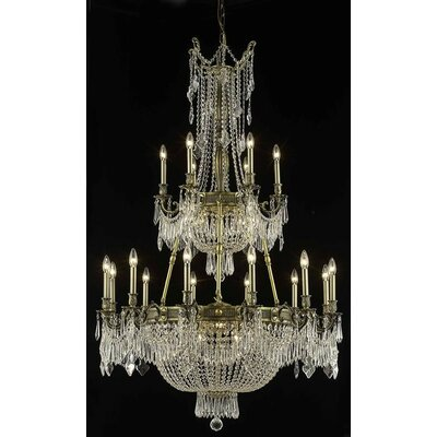 Ursula Traditional 27-Light Crystal Chandelier Crystal Grade: Swarovski Element