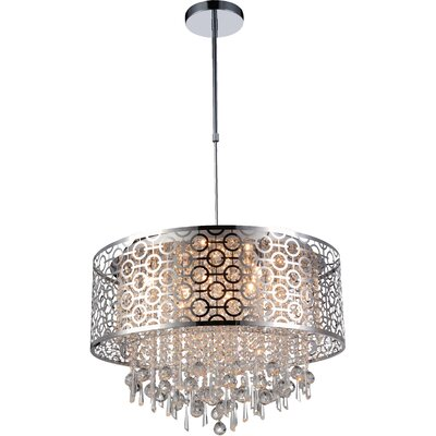 Sterling 8-Light Crystal Pendant