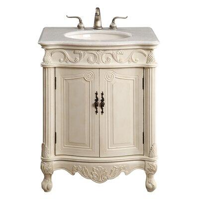 Ambudkar 27 Single Vanity Set Base Finish: Antique White