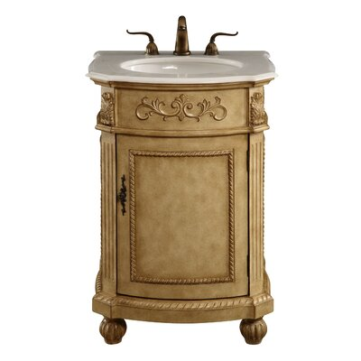 Danville 24 Single Bathroom Vanity Set Base Finish: Antique Beige
