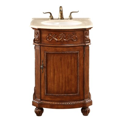 Ambudkar 24 Single Bathroom Vanity Set Base Finish: Brown