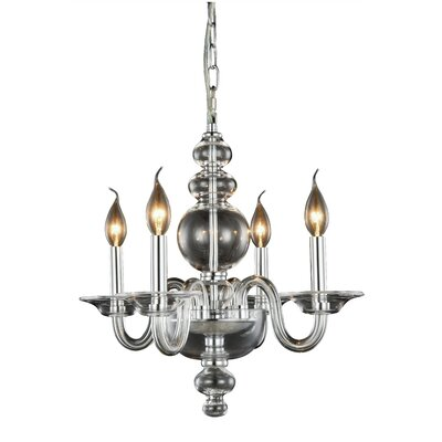 Elissa 4-Light Mini Chandelier Finish: Silver