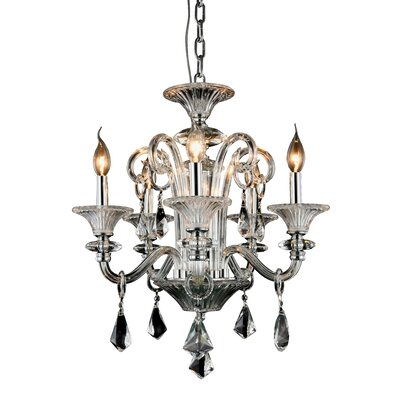 Aurora 5-Light Candle-Style Chandelier