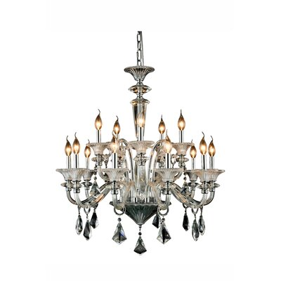 Ola 15-Light Candle-Style Chandelier