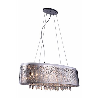Lucretia 9-Light Pendant Finish: Matte Dark Brown