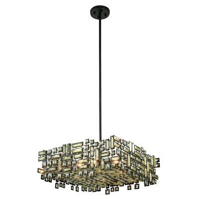 Nancee 6-Light Crystal Rod Chandelier Finish: Chrome