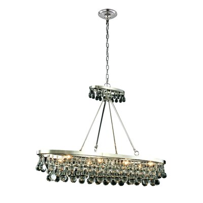 Verlie 8-Light Kitchen Island Pendant Finish: Silver Leaf