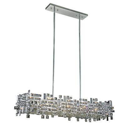 Nancee 8-Light Kitchen Island Pendant Finish: Chrome/Clear