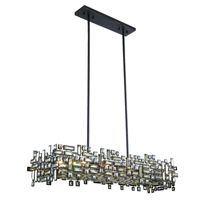 Nancee 8-Light Kitchen Island Pendant Finish: Dark Bronze/Golden Teak