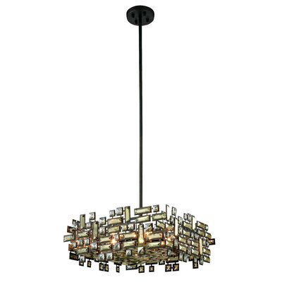 Nancee 6-Light Crystal Chandelier Finish: Dark Bronze