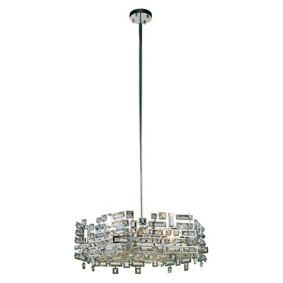 Nancee Contemporary 6-Light Crystal Chandelier Finish: Dark Bronze/Golden Teak