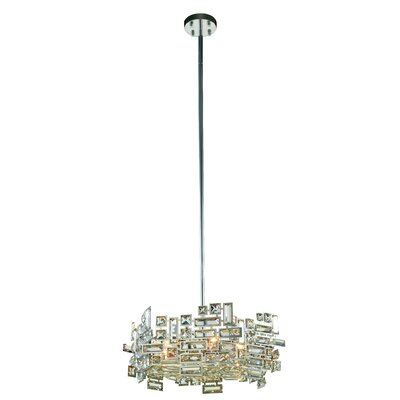 Nancee Royal Cut 6-Light Crystal Chandelier Finish: Chrome/Clear