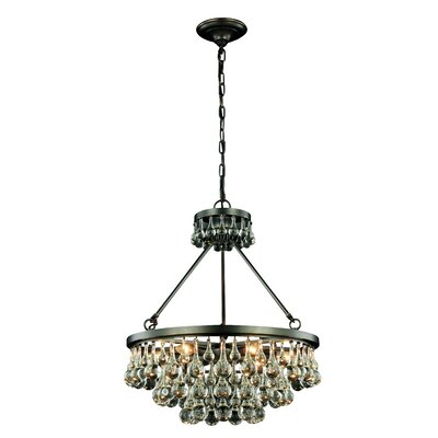 Verlie 6-Light Crystal Chandelier Finish: Bronze