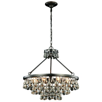 Verlie 8-Light Crystal Chandelier Finish: Silver Leaf