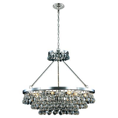 Verlie 10-Light Crystal Chandelier Finish: Silver Leaf