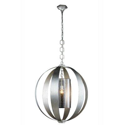 Serenity 1-Light Globe Pendant Finish: Vintage Silver Leaf