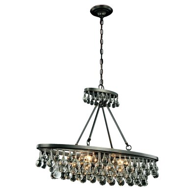 Verlie 4-Light Kitchen Island Pendant Finish: Bronze