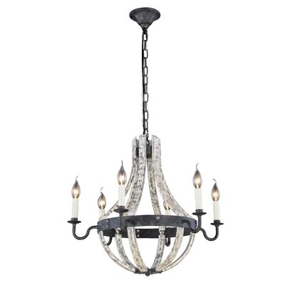 Karteek 6-Light Chain Candle-Style Chandelier