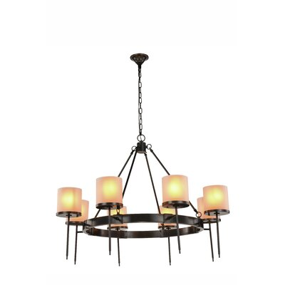 Bradford 8-Light Shaded Chandelier Finish: Burnished Brass