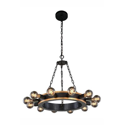 Fanetta 12-Light Sputnik Chandelier Finish: Silver Leaf/Vintage Bronze