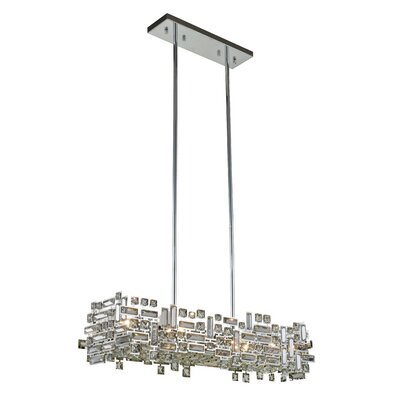 Nancee 6-Light Kitchen Island Pendant Finish: Chrome/Clear