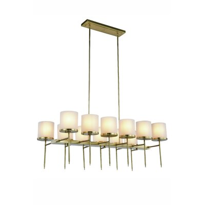 Bradford 12-Light Kitchen Island Pendant Finish: Bronze